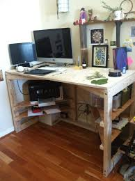 Simple Wooden Office Tables Simple Plywood And 2x4 Desk Interior Pinterest