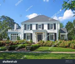 white colonial house stock photo 1476180 shutterstock