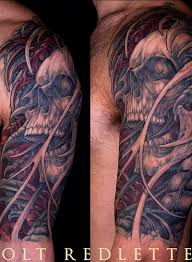 half sleeve skull horror design tattoos book 65 000