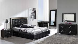 Modern Platform Bed Black Button Tufted Faux Leather Modern Platform Bed W Storage