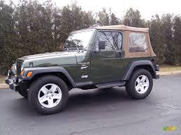 wrangler jeep green 1998 moss green pearl jeep wrangler sport 4x4 25401180 gtcarlot