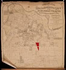 Map Of Sacramento Official Map Of Sacramento City And Suburban Tracts Sacramento