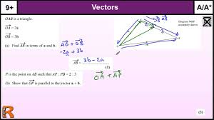 vector geometry gcse maths higher revision exam paper practice