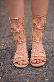bling bling strappy tan gladiator sandals nanamacs boutique