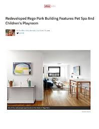 redeveloped rego park building features pet spa and children u0027s