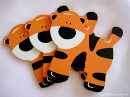 tiger wooden animal ornaments for safari jungle themed baby