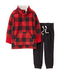 s 2 fleece top baby clothes for boys set baby print