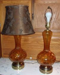 vintage stiffel ls price guide mid century gold pressed glass table l pair on sale