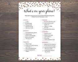 Wedding Wishes Ringtone Rose Gold Bridal Shower Games Whats On Your Phone Printable