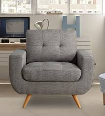 buy carolina tufted accent chair in grey colour by dreamzz