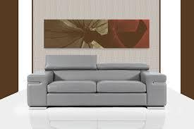 canapé fabriqué en canapé en cuir gris fabriqué en italie sofamobili