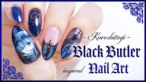 black butler inspired nail art happy halloween nails