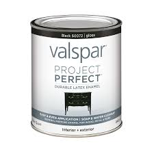 shop valspar project perfect black gloss latex enamel interior