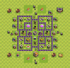 layout design th7 farming base plan layout design th 7 clash of clans town