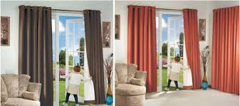blackout insulated silver clear finish curtains pair 80