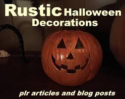 halloween plr pack 8 rustic halloween decorations
