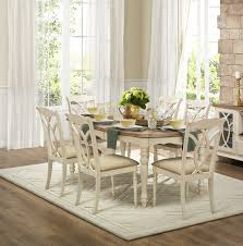 Furniture Wonderful Antique White Dining Tables For Shabby Chic - Antique white pedestal dining table