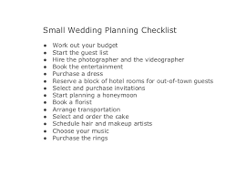 planning a small wedding easy wedding