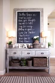 244 best home decor images on pinterest architecture home and rustic console oversized framed chalkboard