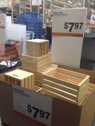 instead of michaels or joann u0027s buy wooden crates at home depot