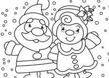 christmas colouring pages colorings