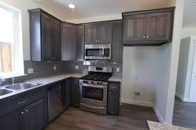 hickory grey stained kitchen cabinets affordable custom cabinets showroom
