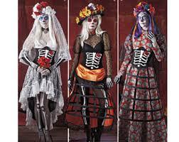 Sugar Skull Halloween Costumes Dead Costume Etsy