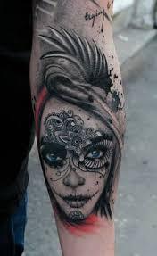 half half skull tattoos search tattoos