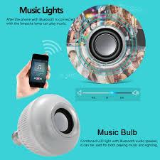 bluetooth music light bulb wireless bluetooth audio speaker led bulb with 24 keys ir remote