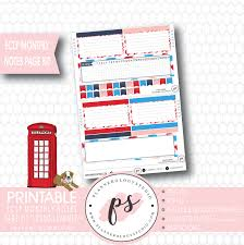 printable planner notes london summer monthly notes page kit digital printable planner