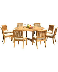 72 round outdoor dining table bargains on 9 piece outdoor dining set 72 round table 8 arbor