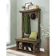 an entryway hall tree bench that is perfect for providing
