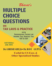 bharat multiple choice questions on tax laws u0026 practice by dr