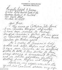 catherine zeta jones pens handwritten note seeking leniency for