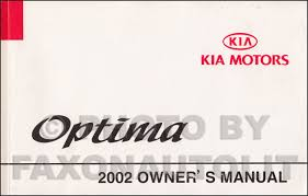 2002 kia optima electrical troubleshooting manual original