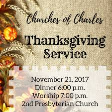 churches of charles thanksgiving service baptist church