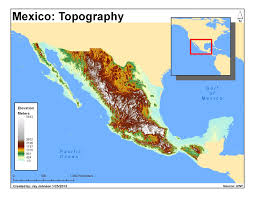 elevation map of mexico mexico map