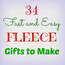 34 fast and easy fleece gifts to make crafts a la mode