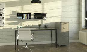 rustic office decor exposed brick wall backdrop is perfect for the