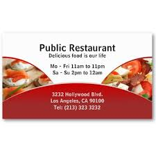 business card design for restaurants and catering services 19 95