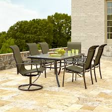 7 Pc Patio Dining Set Interesting Green Dining Set With Additional Ty Pennington