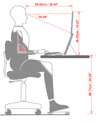 Average Office Desk Height Ergonomics What U0027s The Ideal Height For A Laptop Desk Updated