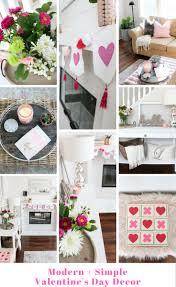 modern and simple valentine u0027s day decor
