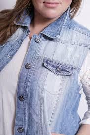 Light Blue Vest The Frayed Denim Vest Plus Size Vanilla Star Jeans
