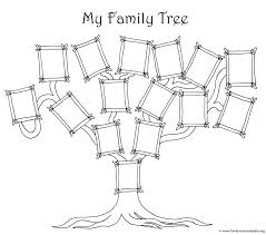 Coloring Page For Kids A Simple Fun Family Tree Chart 55 Cool Children S Tree Coloring Pages