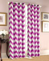 Dark Pink Shower Curtain by Empire Home Chevron Print 100 Thermal Insulated Blackout Window