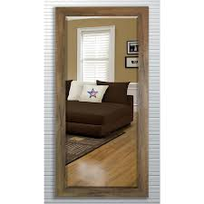 Beveled Floor Mirror by Sandberg Furniture Contemporary White Full Length Leaner Floor