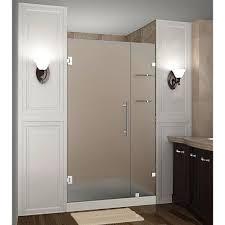 dreamline unidoor lux 39 in x 72 in frameless hinged shower door