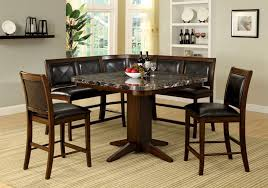 dining room black faux marble top counter height dining table