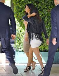 kim and kourtney kardashian arrives at abbey wilson u0027s baby shower